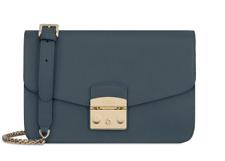NWT Furla Metropolis Shoulder Bag S Ardesia E 978063