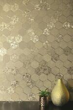 Folie Wabe Tapete geometrisch metallisch - Arthouse Champagner Gold 294701