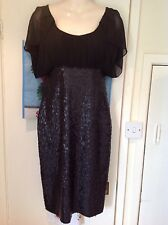 M&S Marks and Spencer Per Una Speziale Black Dress Size 8 XMAS Party Sequin BNWT
