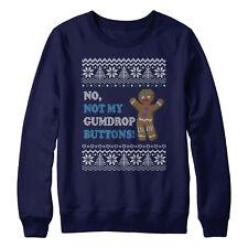 Not My Gumdrop Buttons Sweatshirt Christmas Fair Isle Ugly Jumper Ginger L373