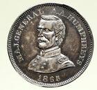 1865 USA CIVIL WAR CORPS Maj GENERAL HUMPREYS CLOVER Vintage Silver Medal i95181