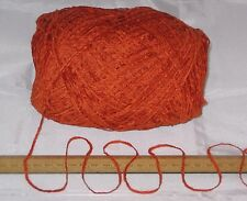 900g pack 9 x 100g Clementine Orange Chenille knitting wool yarn soft 4ply SALE