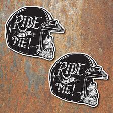 Ciclista cráneo Vintage Pegatinas Moto Motocicleta Cafer Racer Chopper Bobber 2