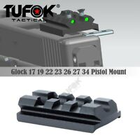 Glock Sight Mount Plate Fit Glock 17 19 22 23 26 Rail for Install  Red Dot Sight