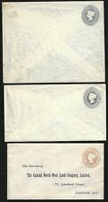 Uk Gb 1890s Queen Victoria 2 1/2 Pence & 1 Penny Different Colors Postal Station