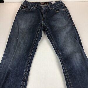 Ariat Work Jeans M4 Boot Cut Mens Size 32 x 32 Blue Medium Wash Low Rise Pants