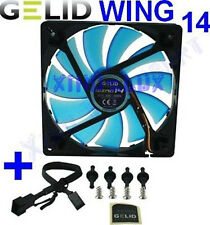 VENTOLA CASE PC 140mm GELID WING 14 BLU FAN pc140 x 25 UV BLUE 14cm 1200 rpm 12V