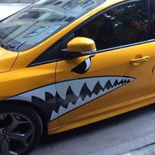 Decal Vinyl Funny Cut carvings Stick Car Body Sticker White Shark Mouth Colorful