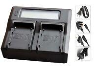 New Dual LCD Battery Charger For BP-911 BP-914 BP915 BP924 BP927 BP-930 BP911