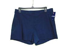 Chaps Sailor Bay Navy Blue Casual Shorts Size 16p Nwt