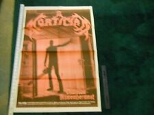 Mortician Chainsaw Dismemberment Poster 2 sided Today is The Day 35 x 23 inches
