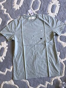 Abercrombie & Fitch Moose Icon Crew Tee Light Green Large Authentic! NWT
