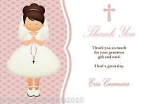 10 Personalised Communion Thank You Cards Girl 2