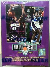1994-95  Fleer Jam Session Basketball Factory Sealed Box 36ct Slam Dunk Heroes??