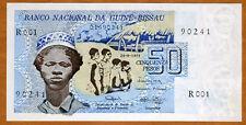 Guinea Bissau, 50 Pesos, 1975, P-1, UNC > First Banknote