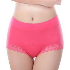 Ladies High Waist Seamless Briefs Modal Breathable Panties Underwear M-XXL