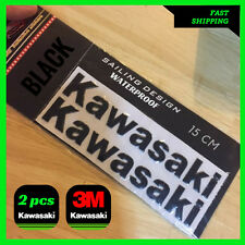 KAWASAKI BLACK Sticker KX ZX10R ZX6R Z800 Z1000 Ninja Label Decal 3D Tank Moto