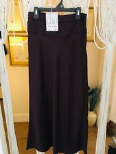 BNWT FREE PEOPLE Wine Silky satin long bias cut skirt XS Uk 8