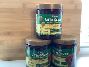 3 NaturVet GrassSaver PLUS enzymes Dog Supplement Get Rid of Yellow Lawn Spots