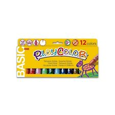 Playcolor 10731 Solid Tempere, pack of 12 pieces (Assorted Colors) 12 Colours