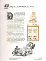 #615 (34c) Love Letter #3496 USPS Commemorative Stamp Panel