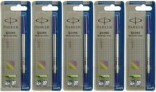 6 X Parker Roller Ball Pen Refills Navigator Medium - Blue Ink, Vector Frontier