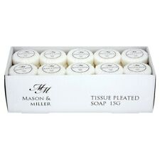 Mason & Miller Tissue Pleated Soap - 50x 15g - Hotels & Guest Houses - Travel