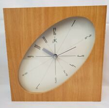 Infinity Wall Clock Wood Stretched Oval Face Quartz Modern Style Surrealism Art