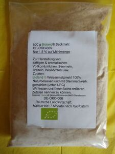 Brötchenbackmittel  Bioland  Backmalz Enzym aktiv  + Rezept  500g