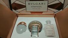 Bvlgari OMNIA CRYSTALLINE 3 Pieces GIFT SET Women BRAND NEW L'eau De Parfum