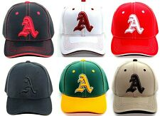 ALPHABET A LOGO EMBROIDERY BASEBALL CAP HAT ADJUSTABLE STRAP ONE SIZE FITS ALL