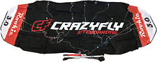 Crazyfly Rookie 3m Trainer Kite Fun Kiteboarding Foil Power Traction Red Black