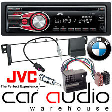 BMW 3 Series E46 2002-05 JVC Car Stereo CD MP3 Radio Aux Player RED Display Kit