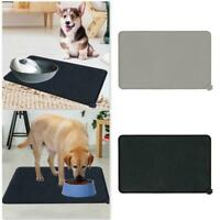 Silicone Pet Puppy Feeding Food Mat Waterproof Dog Slip Cat Non Placemat Bo G3E5