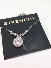 $42 Givenchy Pear Crystal Necklace  #n132 GN