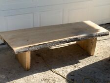 White pine benches live slab