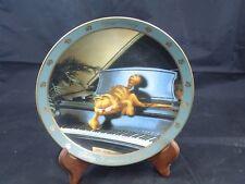 "Set of 7 1990 Danbury Mint Garfield Plates ""Dear Diary Series"" by Jim Davis"