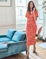 Boden Kleid - Vanessa Jersey Dress - Taschen Stretch Geblümt NEU - UK 14 EU 42