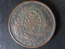 LC-9C1 One Penny token Deux sous 1837 Bas Canada Banque du Peuple Breton 521