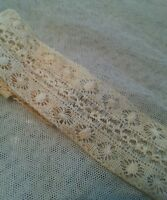 """Antique Lace Trim Remnant Edging Insert Sewing French Doll Clothes 13"""""""
