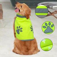 Reflective High Visibility Dog Clothes Hi Vis Viz Night Safety Vest Coat Jacket