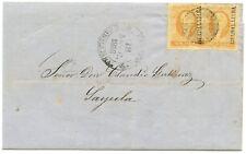 MEXICO - SC #2 1R (2) GUADALAJARA ON COVER TO SAYULA 1858 (DE033)