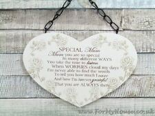 Heart roses Special Mum plaque sign F1214A
