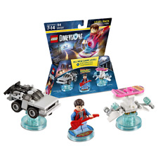 New LEGO Dimensions Back To The Future Level Pack Marty Delorean Official