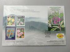 Royal Selangor Pewter Niobium Stamp FDC  2000 Highland Flowers of Malaysia Flora