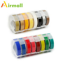 "Label Tapes Replacement Dymo 3D Plastic Embossing Tape for Label Makers 3/8"" Mix"