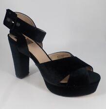 60e382c94b4 Evans Jayden Black Standard Fit Velvet Platform HEELS Size UK 8 EU 42 Nh06  32