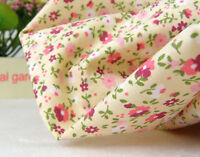 BY THE YARD Mini flower pink Cotton Blend Fabric Floral Polycotton fCB041*