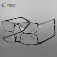 Full Rim Eyeglass Frame β-Titanium Spectacles for Men's Optical Eyewear Rx Able