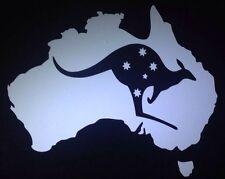 """Australia With Southern Cross And Kangaroo "" car window vinyl decal (Large)"